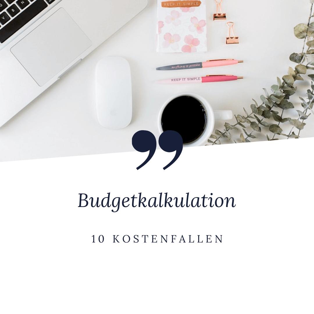 Budgetkalkulation Hochzeit